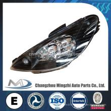 Pièces auto, lampe auto, éclairage de tête, lampe à tête noire de cristal pour Peugeot 206 R087276 L087275