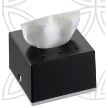 Black Squre Decorative Fancy Public Car Wholesale Wall Mounted Plastic Facial Mini Tissue Box