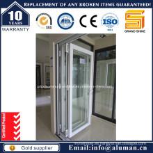 De aluminio de alta calidad de doble acristalamiento Bi-Fold puerta con como 2208-1996