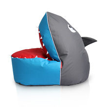 Blue Shark bean bag in 600D polyester fabric