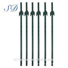Poteau de clôture robuste en acier de 6 pi