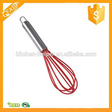 Wholesale BPA Free Stainless Steel with Silicone Covering Whisk