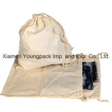 Promotional 100% Natural Cotton Fabric Cloth Draw-String Bag