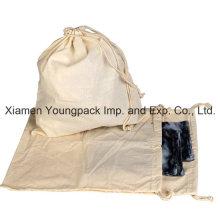 Promocionais 100% Natural tecido de algodão puxar-String saco