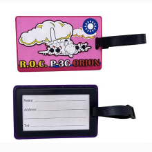 Wholesales Price Customized 3D Effect PVC Luggage Tag