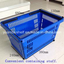 Convenient Store Customer Shopping Handle Plastic Basket