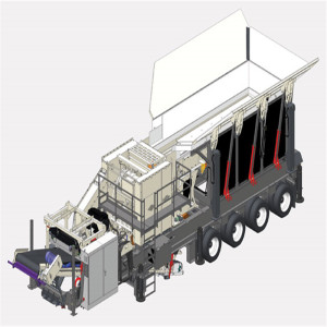 Portable Tracked Jaw Crusher Recycling Machine For Sale