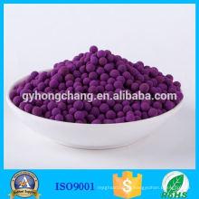 Bola de alúmina activada por el permanganato de potasio del agente auxiliar químico con alta eficacia de eliminación para el gas nocivo SO2