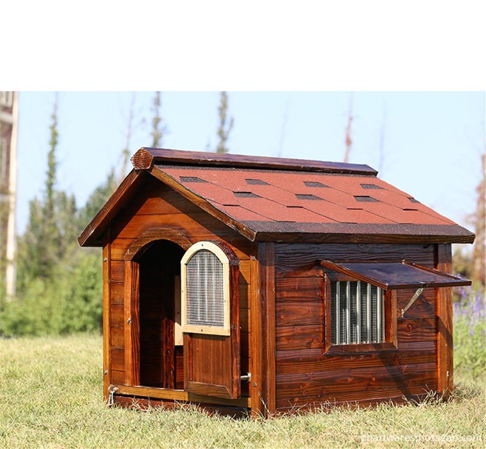wooden dog hosue