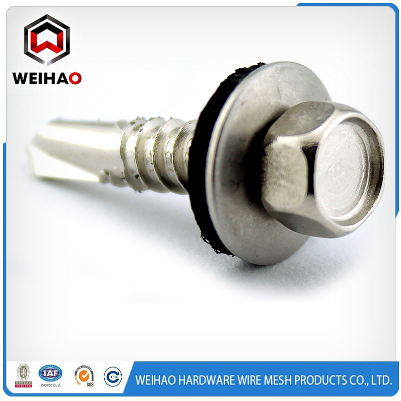 HEX HEAD SELF DRILLING SCREW INSERTED WASHER