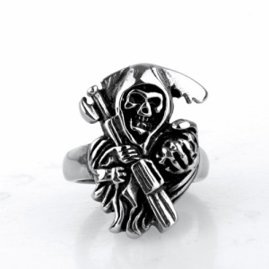 Specialdesign billiga Titanium Steel fingerringar