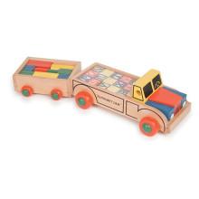 Alfabeto e blocos de construção 2 em 1 carro