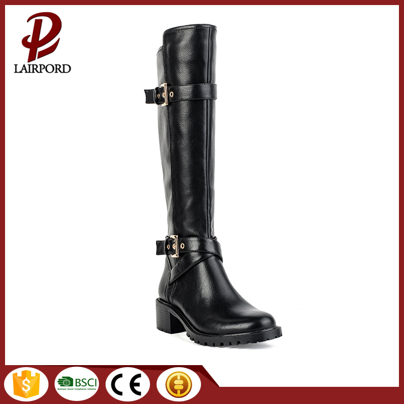 rubber sole leather material high quality boots