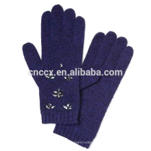 PK17ST033 Italienische Merinowolle Mischung verschönert Handschuh Kristall Verzierung