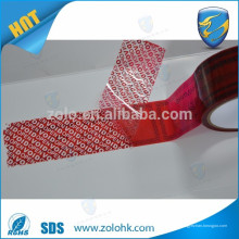 Beste Qualität kreative offene void Band drucken farbige manipulationssichere Verpackung mit Seriennummer