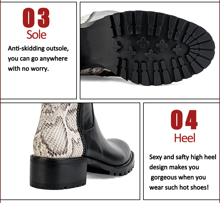 leather and fabric stitching popular women boots