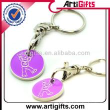 Pièce de chaîne porte-clés promotionnel avec logo personnalisé