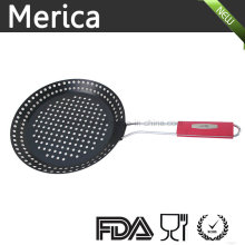Black Iron Frying Strainer with Silicone Handle