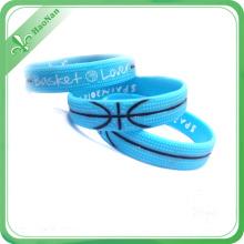 Factory Customized Silicone Wristband Printed Logo Silicone Bracelet