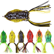 Hihg Quality Topwater Wobblers Crankbaits Hooks 3d Silicone Artificial Soft Fishing Frog Lure