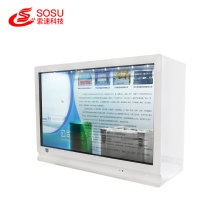 43 inch transparent showcase advertising digital signage