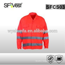 2015 new high visibility workwear uniform with 3m reflective strap