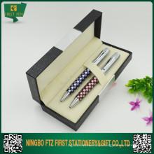 Conjuntos de caneta gravados com caixa de presente