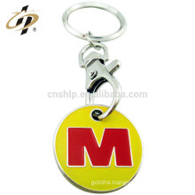 China low price wholesale zinc alloy antique custom trolley token coin keychain