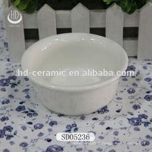 Bacia de cerâmica para casa, tigela de porcelana branca com logotipo, tigela para restaurante