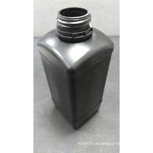 1L quadratische schwarze Plastikflasche