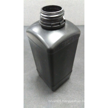1L Square Black Plastic Bottle