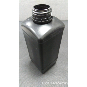 1L Square Black Plastic Bottle