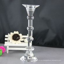 Venta de la fábrica varios ampliamente utilizado piso pie alto pilar candelero de cristal