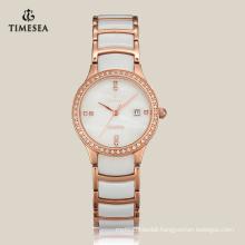 Woman Quartz Ceramic Watch Fashion Watch with Japan Movement 71066