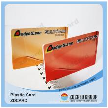 Cartão de impressão para cartão VIP Cartão de tinta transparente PVC