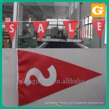 Made in China bandeira de bandeira de tecido de triângulo