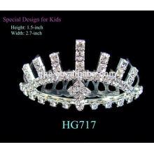 Tiara tiara de la tiara de la corona del resplandor para las tiaras nupciales simples del estilo