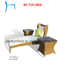 F - Outdoor Wicker Furniture Garden Lounger (CF1002L+CF1000e)