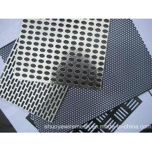 Chapa de aço perfurada de alumínio do metal do perfurador para o filtro