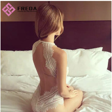 Sexy Lace Halter Teddy Wedding Night Lingerie