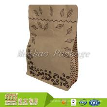Levántese el papel de empaquetado laminado Kraft de Kraft de la impresión del café de encargo de la bolsa de papel con la válvula y Ziplock