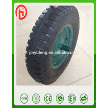 3.50-8 4.00-8 lug pattern pneumatic rubber wheel for wheel barrow,air wheel with WB6400