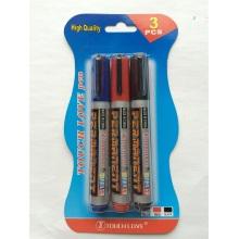 3PCS Permanent Marker Pen 8801, Back to School