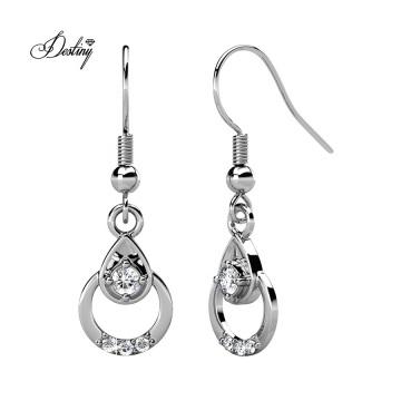Fashion Women Jewelry Clair Hook Teardrop Earrings with Finest Crystal
