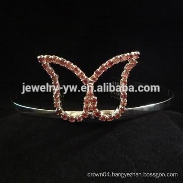 girls hair accessories crystal butterfly headband