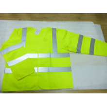 100% Polyester Hi Vis Safety Vest with Long Sleeve