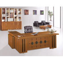 Melamine high end office desk, exclusive office furniture desks with side table