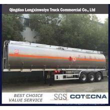 Semi-reboques do tanque de combustível do compartimento do Tri eixo do 40000-50000L da fábrica