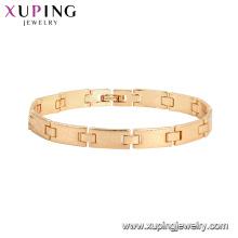 75787 xuping Environmental Copper Fashion Jewelry oro pulsera de las mujeres