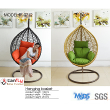 TF-9712 NO. 1 selling garden furniture wicker swing chair with cushion.